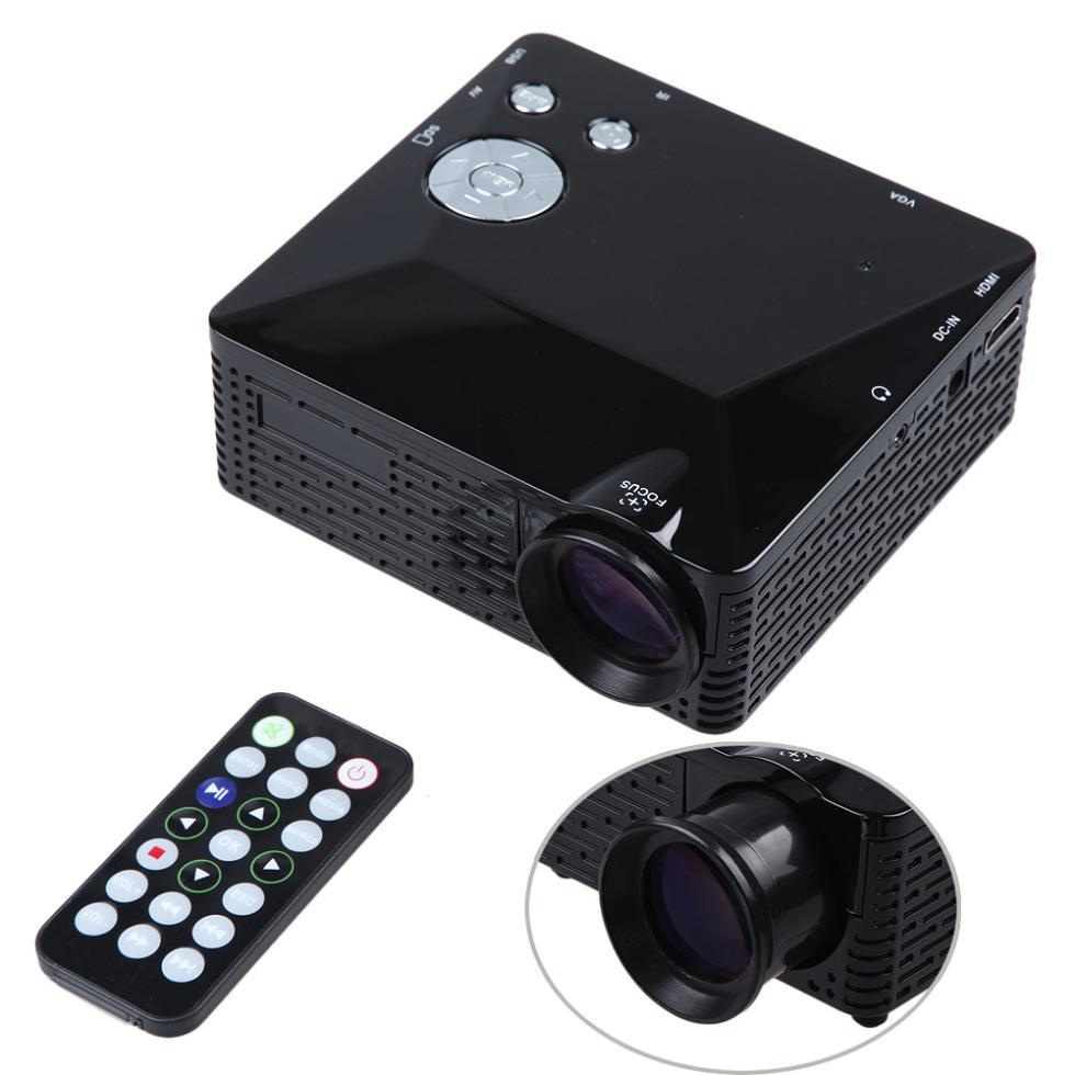 0eb40cad1 Mini LED Projector BL-18 Proyector Portable Pico Projektor 500Lumen Full HD  projectors AV/VGA/SD/USB/HDMI Video Beamer Projetor
