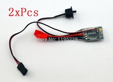 2xPcs 10A Brushed ESC Motor Speed Controller With Brake For 1/16-24 RC Car Boat