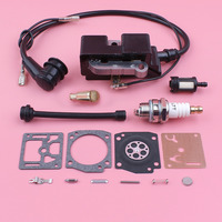 Ignition Coil Carburetor Repair Rebuild Kit For Husqvarna 372 371 365 362 Fuel Oil Filter Hose Spark Plug Chainsaw Replace Part