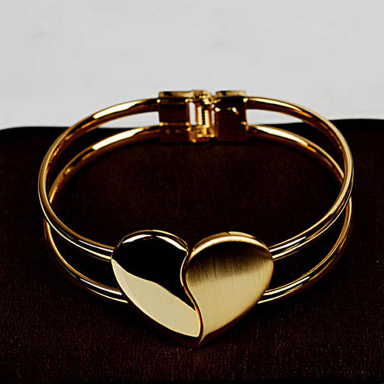 Heart Bracelet bright face double heart bracelet jewelry wholesale