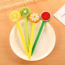 Hot New 1PC 0.5mm Gel Pen Creative Fruit Personal Prizes Colorful Signature Office Stationery for Corporate school
