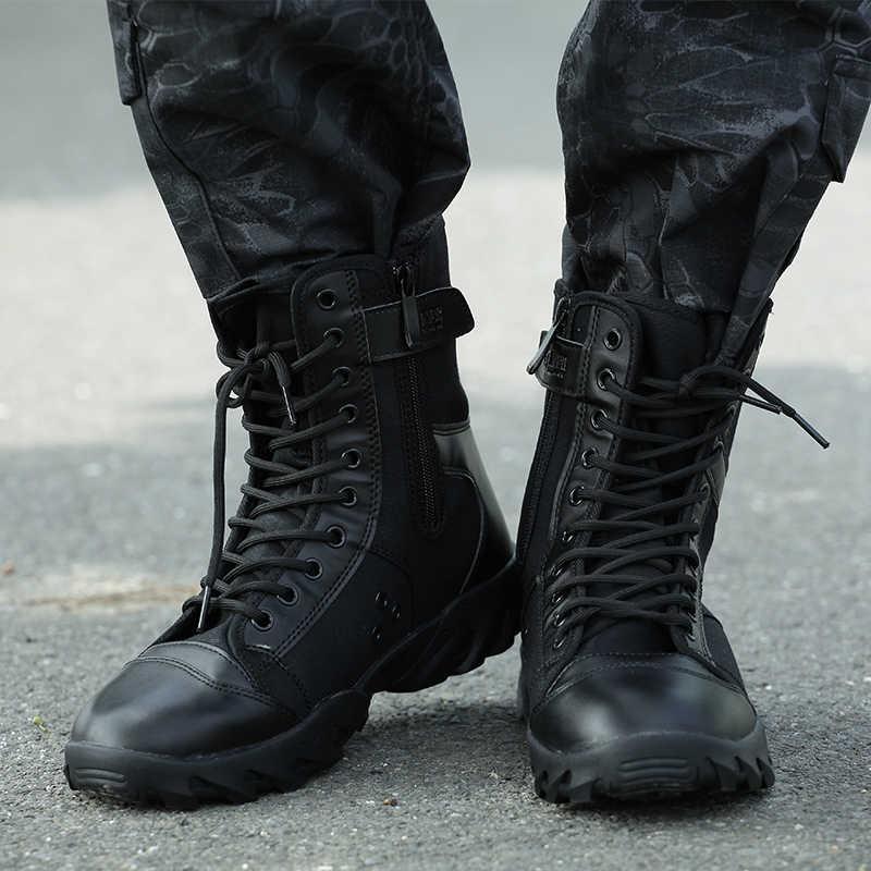 Outdoor Wandelschoenen Mannen Tracking Laarzen Militaire Tactische Combat Botas antislip Mannen Mountain Laarzen Zapatillas Hombre Trekking