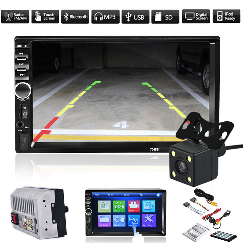 2 Din font b Audio b font Stereo MP3 MP5 Player HD 7 Inch Touch Screen