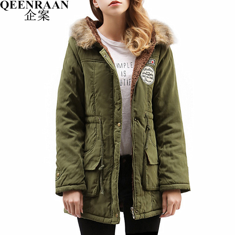 2017 New Autumn Winter Women Coat Thick Cotton Warm Jacket Female Slim Hooded Parkas Coats With Pockets Women's Clothing 2017 new autumn winter women coat thick cotton warm jacket female slim hooded parkas coats with pockets women s clothing