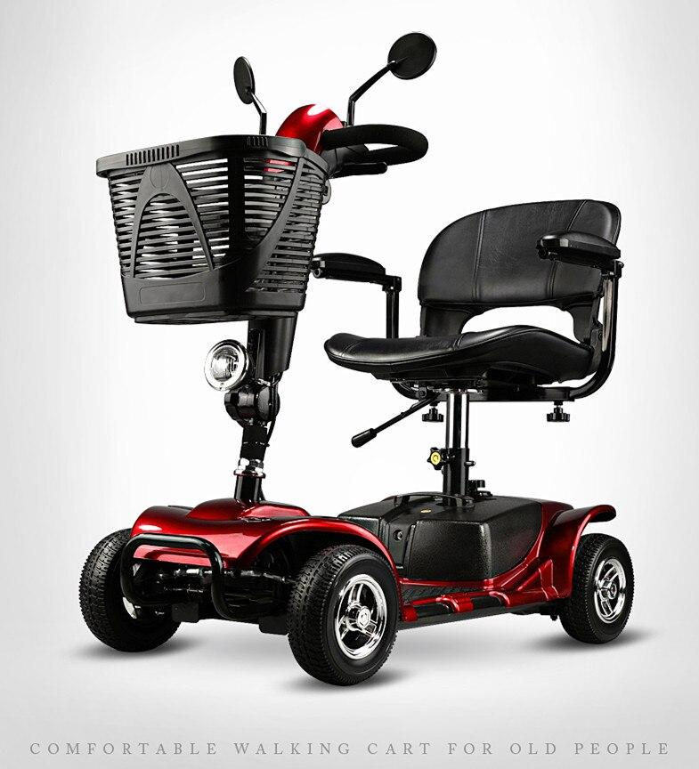 Moda dobrável idosos cadeira de rodas elétrica Scooter elétrico motor swith