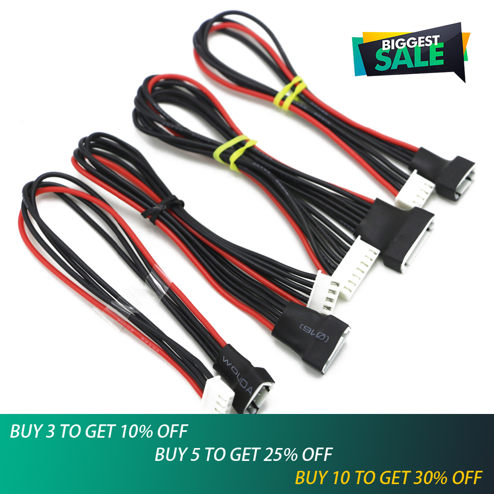 5pcs/lot JST-XH 2S/3S/4S/6S 20cm 22AWG Lipo Balance Wire Extension Charged Cable Lead Cord For RC Battery Charger