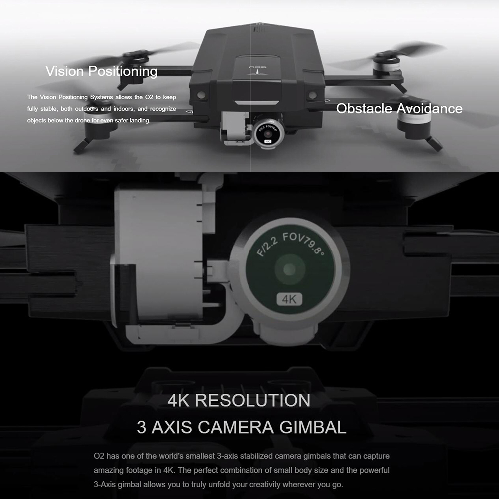 GDU O2 Kit Drone Completo Com Camera Drone Quadrocopter with Camera HD 4K Video Rc Helicopter Live View GPS and GLONASS System