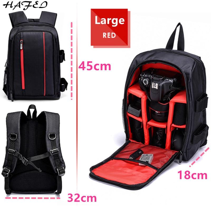 HaFei Upgrade Waterproof multi-functional Digital DSLR Camera Video Bag w/ Rain Cover SLR Camera Bag PE Padded for Photographer