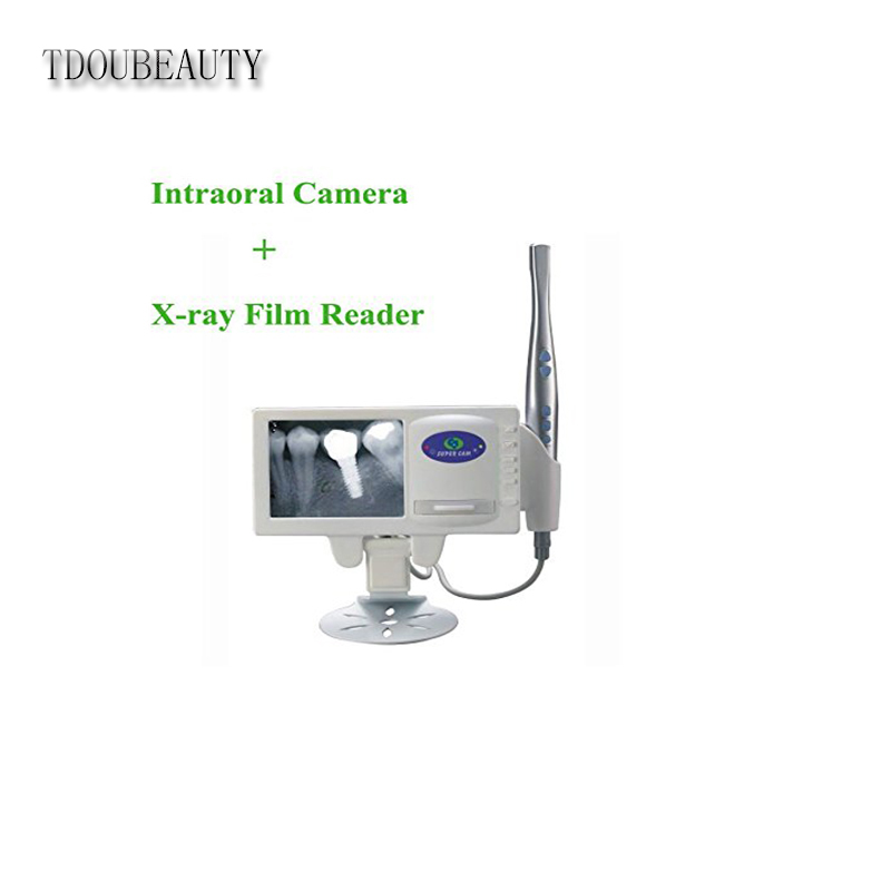 TDOUBEAUTY Multi-Functional X-ray Film Reader Dentist with Higher Resolution 5.0 inch LCD+Pen-like Camera Probe+USB Output M-168 100 pcs dental x ray film size 30 x 40mm for dental x ray reader scanner machine