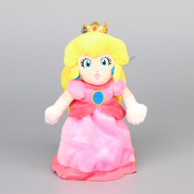 Super Mario Bros Princess Peach Plush toy Stuffed Animal Doll Gift 8 inch