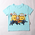 Short Sleeve T-Shirts despicable me 2 minion boys t shirt for girls nova T-Shirt children's Clothing kids Clothes for 2-14yrs