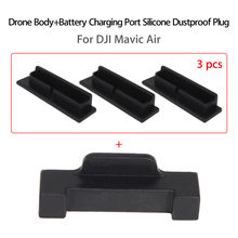 1 Pcs For Drone Body+3 Battery Charging Port Cover Silicone Protective Dustproof Plug for DJI Mavic Air Accessories