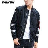 DAIKEN Brand Spring Casual Male Bomber Jacket Fashion Coat Hip Hop Windbreaker For Men J82