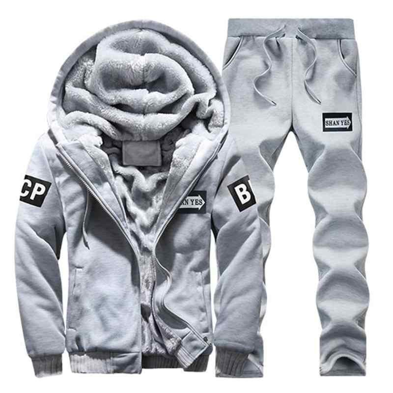 パーカースウェットシャツ男性/女性 2019 コートフリースパーカースウェット + スウェットパンツスーツ秋冬暖かいロゴプリントフード付きプルオーバー