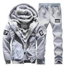 Hoodie Sweatshirt Men/Women 2019 Coat Fleece Hoodies Sweatshirts+Sweatpants Suit Autumn Winter Warm Logo Printed Hooded Pullover