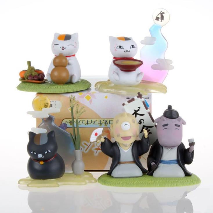 4pcs/set Natsume Yuujinchou Nyanko Sensei Action Figures PVC Collection Model Toys Gift With Box 5cm