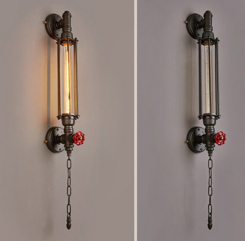 Retro Loft styl průmyslové Vintage nástěnné světlo pro domácí bar Železo Vodní trubka Lampa Edison Nástěnné svítidlo Lampara Pared