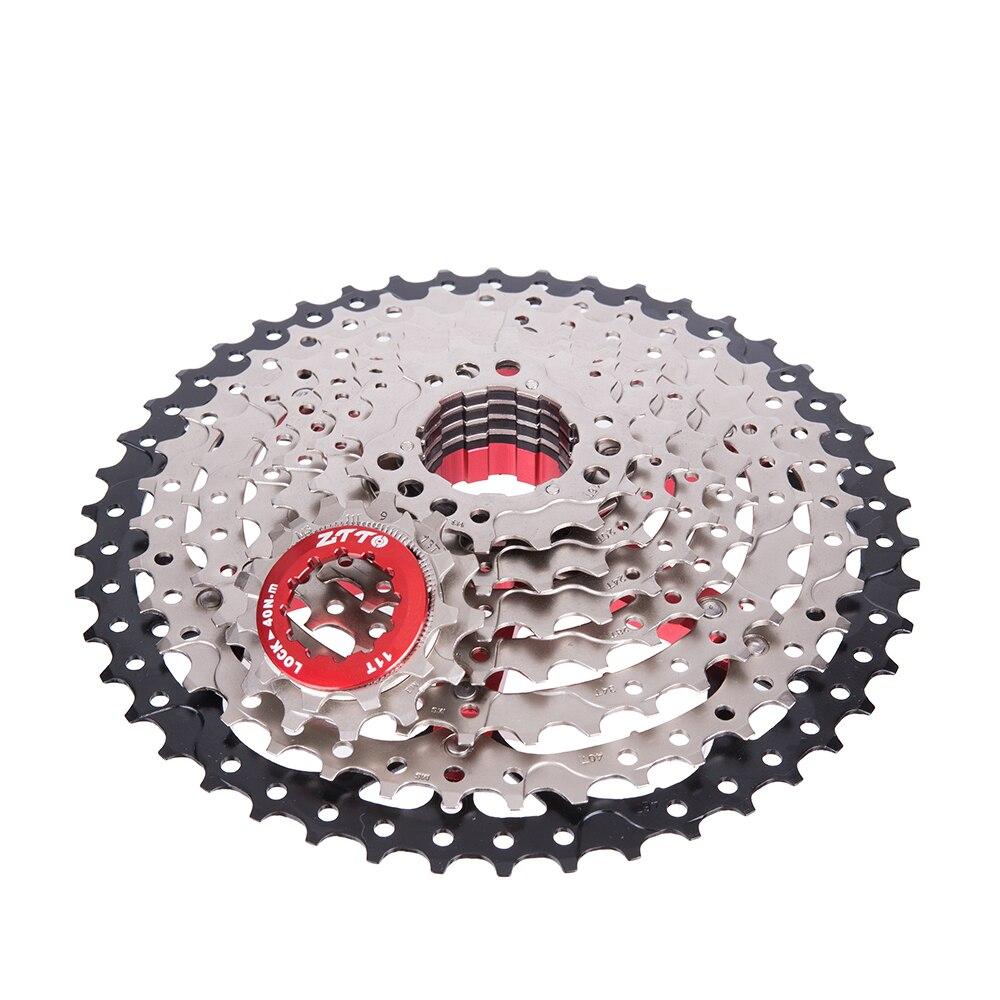 ZTTO 9 velocidad 11-46 T MTB bicicleta casete montaña bicicleta gran relación Sprockets 9 s k7 9 v rueda libre Compatible con M430 M4000 M590 - 4