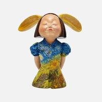 Винсент Ван Гог искусство Дизайн рисунок Nordic Статуя Фигурка Miniture животного домашний декор, скульптура кролика для девочек Chirsmas подарок руч