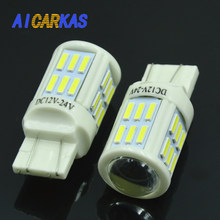 AICARKAS T20 7443 W21/5W 7440 W21W LED Auto Brake Lights Car DRL Driving Lamp Stop Bulbs Turn Signal Lights DC 12V 24V White(China)