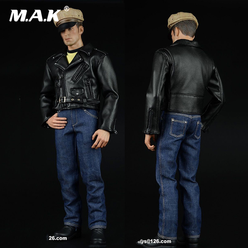 1/6 Scale PUNK Style Hippie Motorcycle Black Leather Suits 1:6 man soldier clothing set for 12 inches Male Action Figures beioufeng 22 24cm 1 3 bjd wig long curly wigs accessories for dolls synthetic doll hair deep coffee color doll wig for dolls