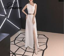 Dress female 2019 new banquet elegant white dress temperament dignified atmosphere was thin