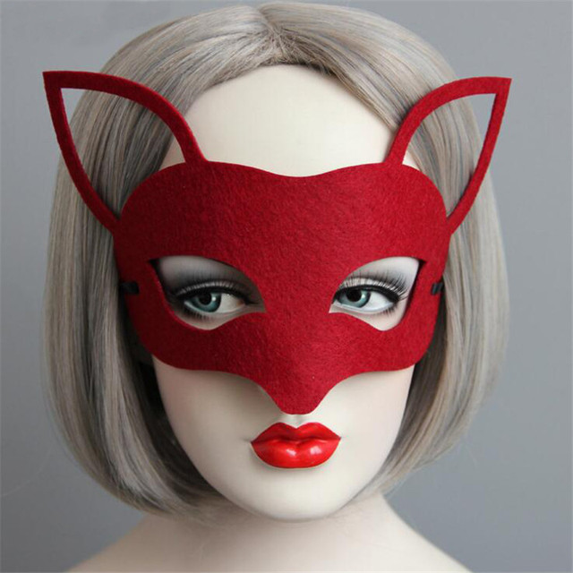 1 unids máscara del zorro rojo para fiesta de disfraces de Halloween  máscara presentador party fiesta e78518a56627