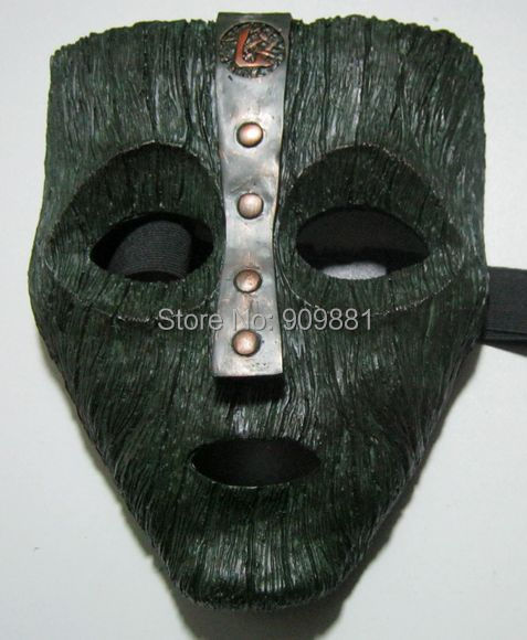 Venetian Mardi Gras Masquerade Loki Mask Replica Movie Halloween Jim Carrey Cameron Diaz Adult Cosplaly Full Face Resin Masks image