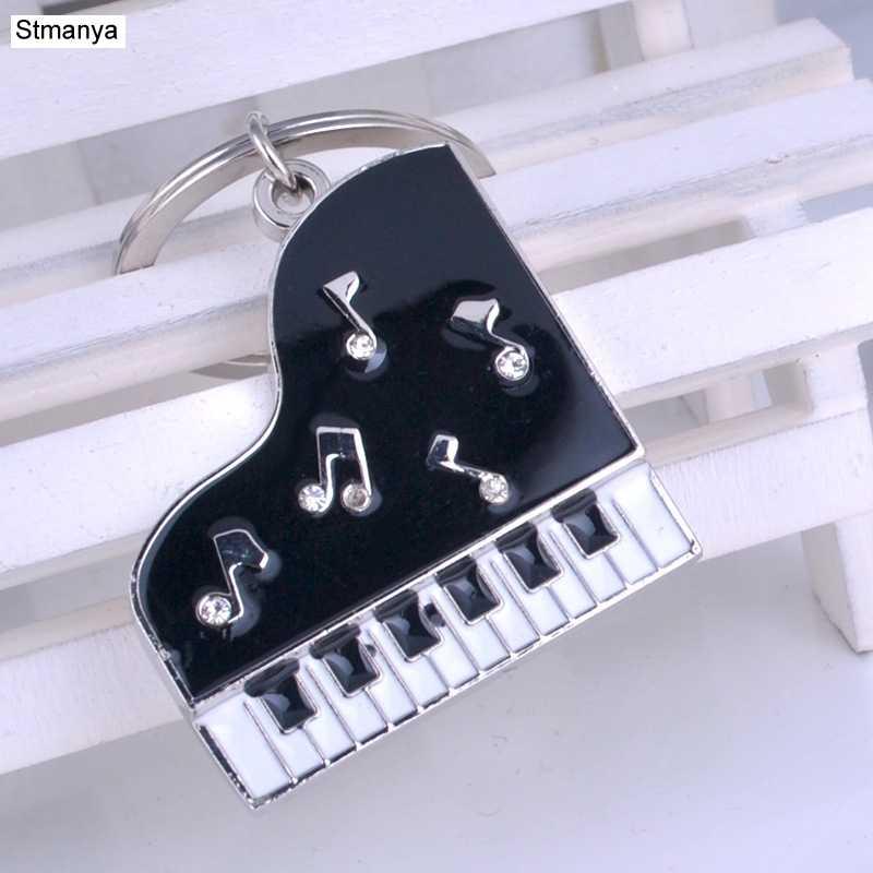 Горячие Для мужчин Популярные фортепиано цепочка для ключей новый металлический брелок с хрустальный Деловой Подарок брелок автомобиль вечерние подарок ювелирные изделия K2020