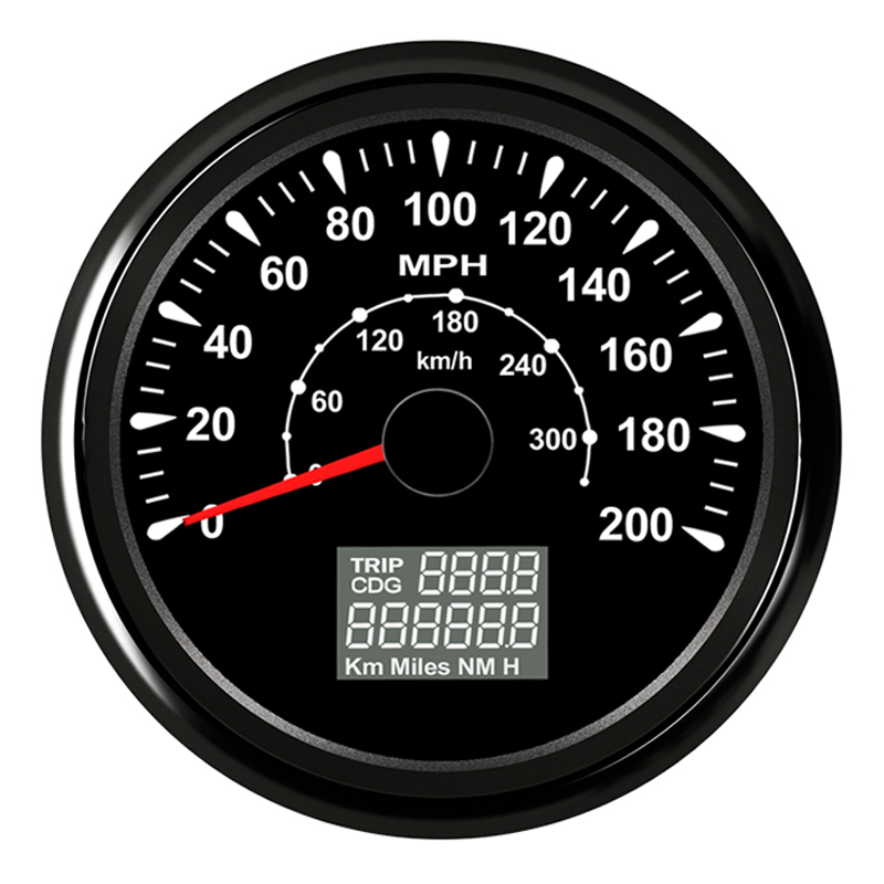 Motorcycle GPS Speedometer Speed Gauge meter fit Car Truck Boat Vessel with 7 color backlight 9-32V 100% brand new gps speedometer 60knots for auto boat with gps antenna white color