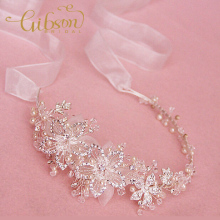 Free Shipping Rhinestone Flowers Bridal Headband Wedding Hair Accessories