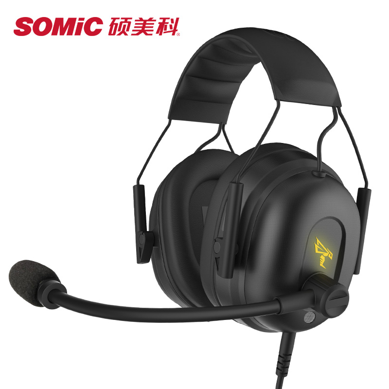 SOMIC Professional Wired Gaming Headphones With Microphone For Computer Laptop PC Sport Headset Gamer Big Earphone Game Earbuds hoco w7 wired gaming headphones gamer headset for computer game with microphone earphones soft ear pad noise canceling