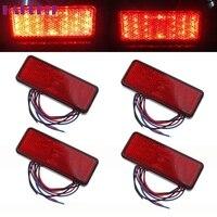 NEW 4x Universal Car ATV SUV 12 V Đỏ 24 LED Dừng Sương Mù Tail Phanh Ánh Sáng Đèn thời trang hot L616