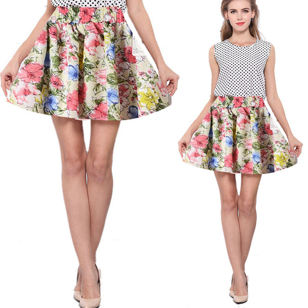 Aliexpress.com : Buy Summer Style Women Pleated Floral Short Mini ...