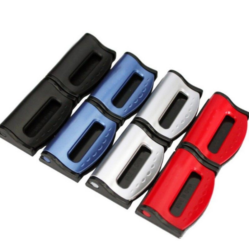 1 Pair Useful Car Seat Belt Buckle Clips Universal Adjustable Seat Belt Extension Stopper Auto Car Accessories 5.25 Styling