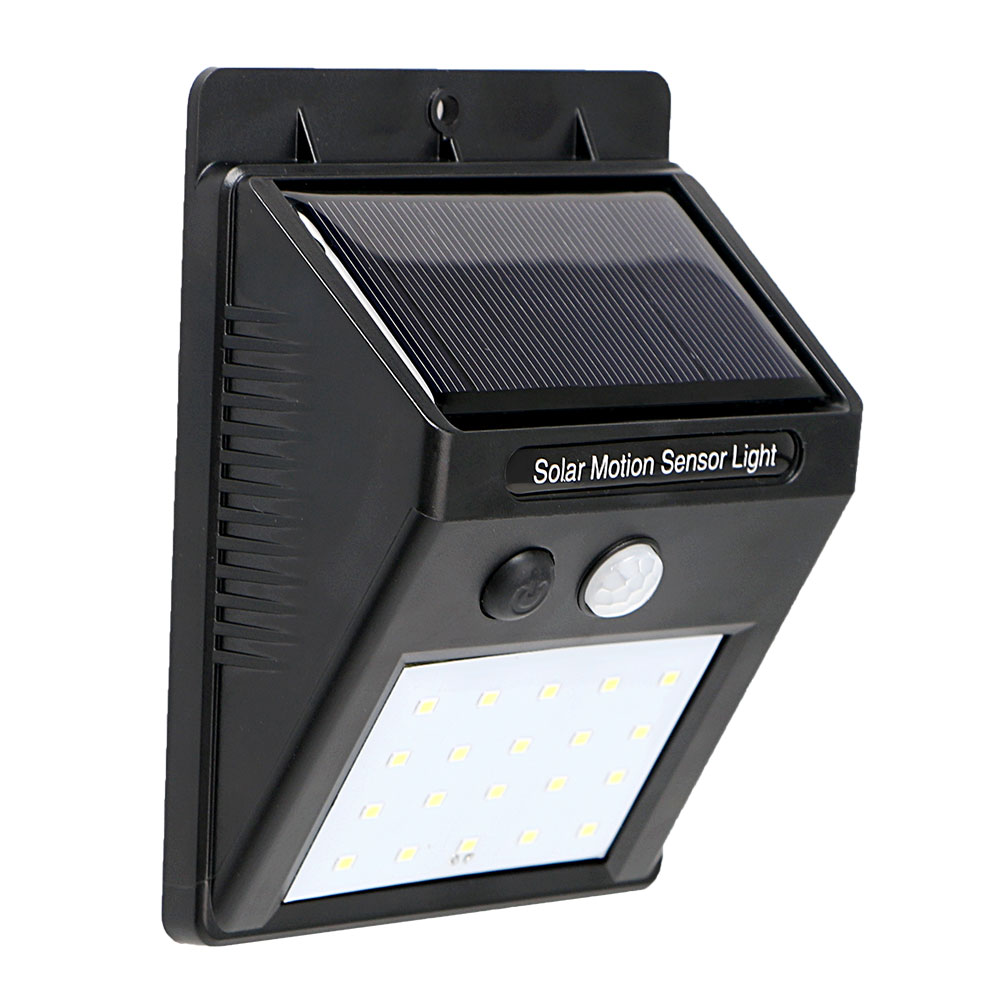 ITimo For Street Yard Path Home Garden Waterproof 20 LED Solar Lamp Outdoor Lighting Wall Light Light and PIR Motion Sensor