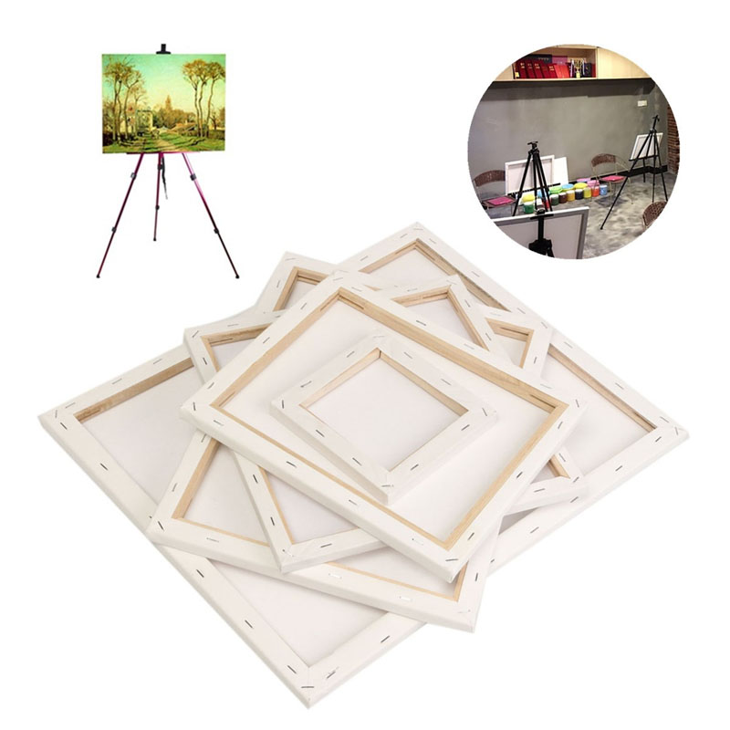 2019 New White Blank Square Artist Canvas Wooden Board Frame For Primed Oil Acrylic Paint