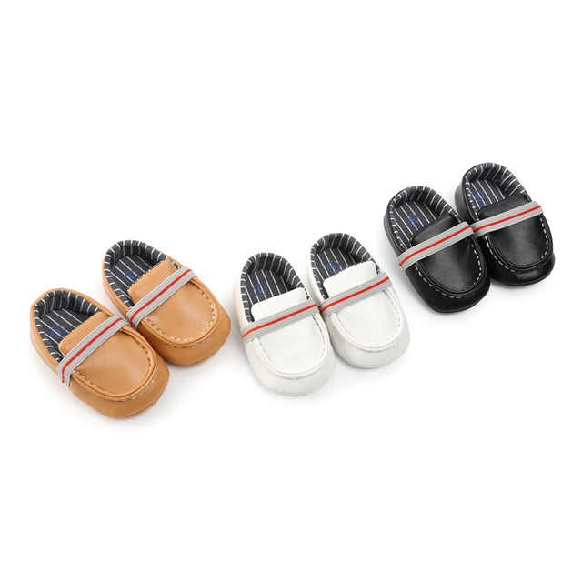 2018 New Fashion Soft Bottom Infants Boys Girls Loafers Shoes Newborn Solid PU Leather Baby Casual Baby Moccasins