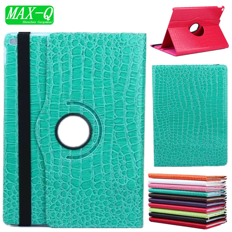 Fashion High Quality Crocodile pu leather PU case for iPad mini 1 mini2 with 360 Degrees Rotating Stand