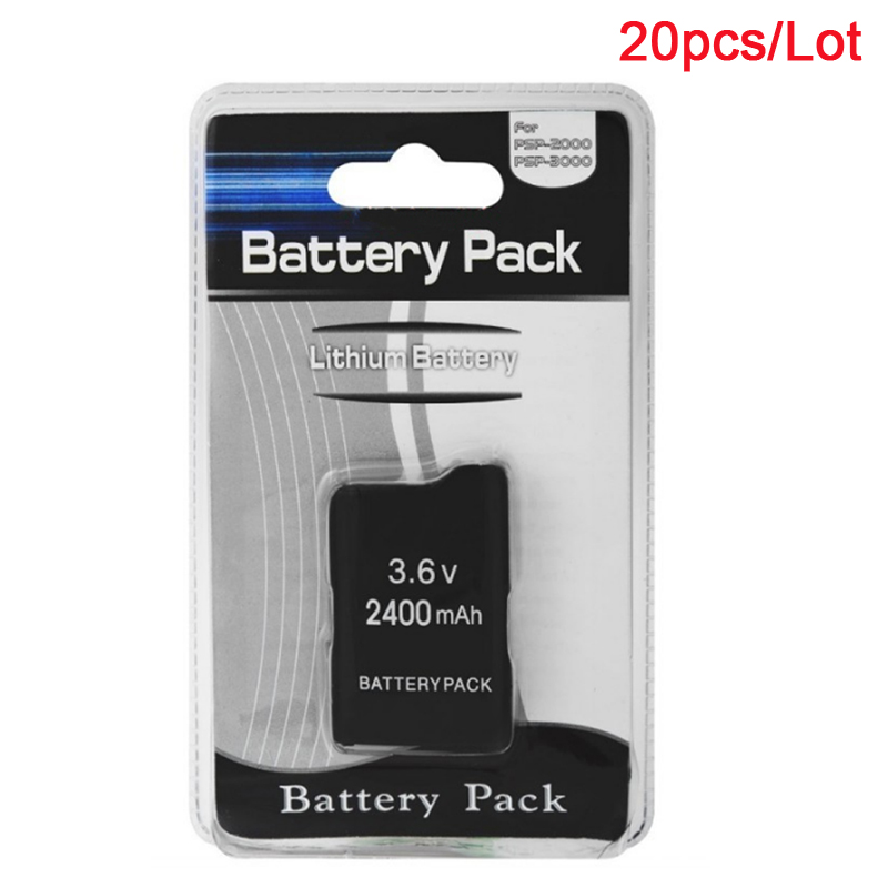 20Pcs Lot 3 6V Battery Pack for Sony PSP2000 PSP3000 Wireless Gamepad PSP 2000 PSP 3000