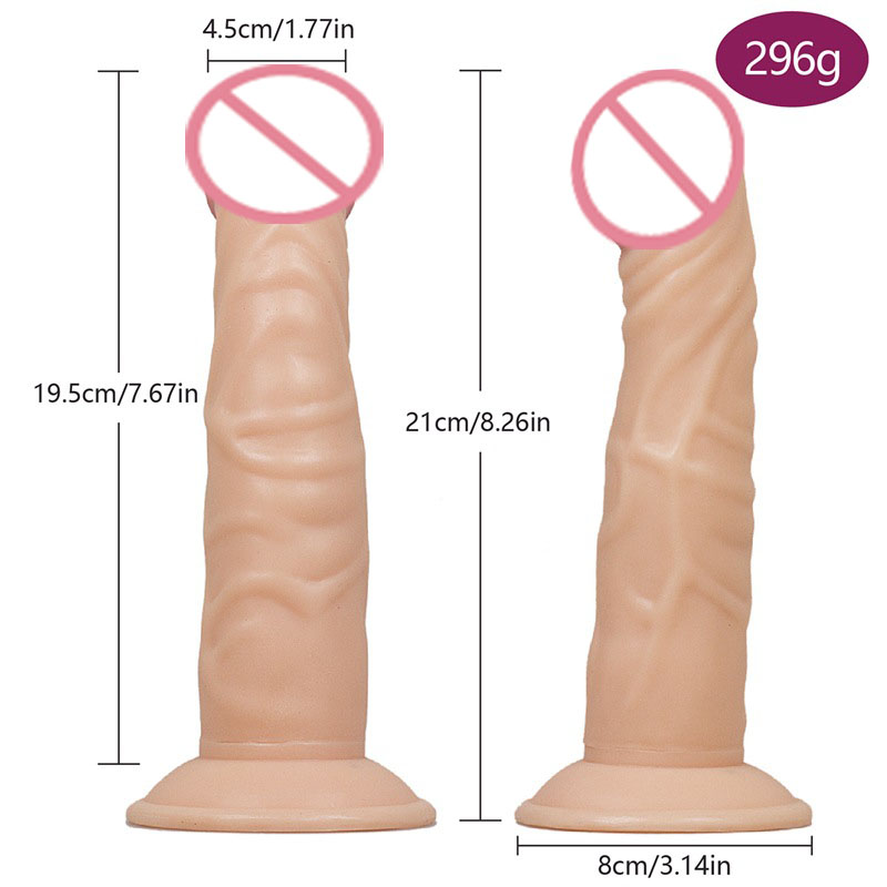 Hot Sale 21*4.5cm Adult Huge Dildos Penis Realistic Simulate Dildo with Strong Suction Cup Dick Real Shape Sex Product for womenHot Sale 21*4.5cm Adult Huge Dildos Penis Realistic Simulate Dildo with Strong Suction Cup Dick Real Shape Sex Product for women