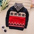 BibiCola camisola primavera outono novo estilo meninos jaquetas outerware crianças camisola Camisa de Tricô casaco criança menino fina camisola