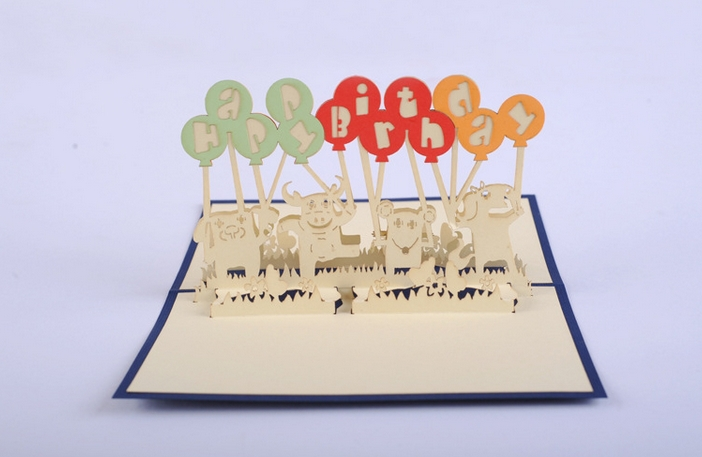5pcslot3d Pop Up Carddiy Drawing Happy Birthday Card Card For