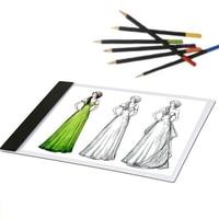 Portable Ultra Thin A4 LED Drawing Canva Copy Tracing Drawing Table Pad Light Box USB Stencil