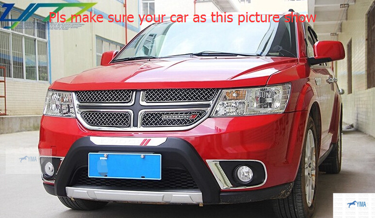 цена на ! For Dodge Journey 2013 2014 Honeycomb Style Front Grille Grill Trim 4pcs / set