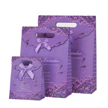 10 Pcs/lot Lavender Sticky Purple Gift Bag Small Decoration Paper For Birthday Event Party Supplies Two size