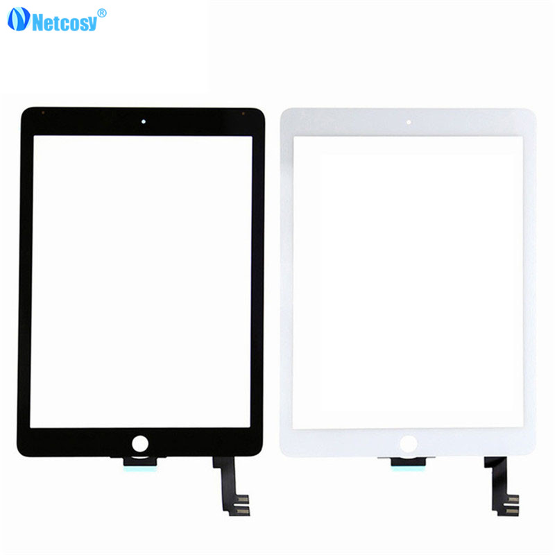 Netcosy 5pcs/lot Touchscreen For ipad air 2 A1567 A1566 Touch screen digitizer panel repair parts for ipad 6 netcosy for ipad air touchscreen high quality black