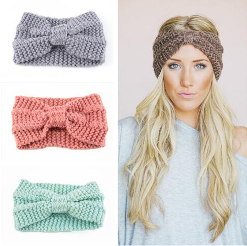 Women Winter Hats Wool Solid Ear Protect Cap Fashion Winter Knitted Hat Female   Skullies     Beanies   Hair Accessories