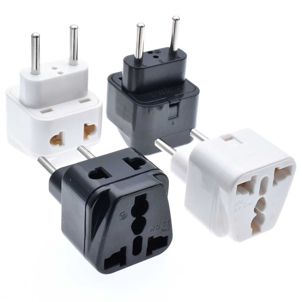1 pcs 1 naar 2 Split Universal UK/USA/EU/AU 3-pin/2- pin socket naar Italië Reizen Power Adapter Plug, 4.0mm Plug Type C