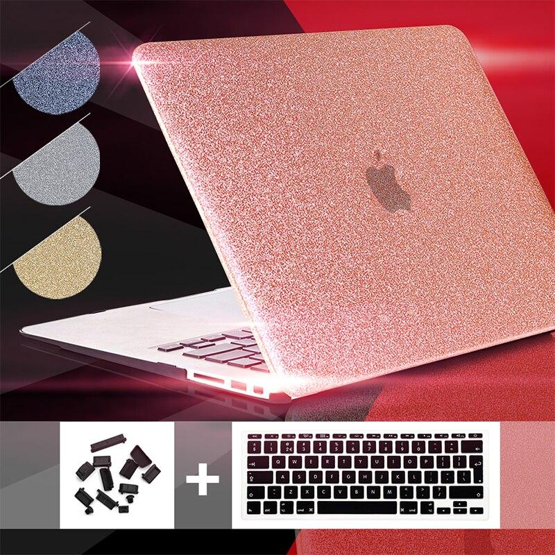 Pour macbook air 13 cas Éclat des Paillettes Mallette Pour Ordinateur Portable, pour macbook air 13 hard case 11 12 13 15inc nouveau tactile bar A1706 A1708 A1707